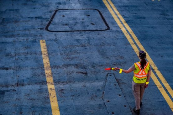 Image of a female road construction worker.